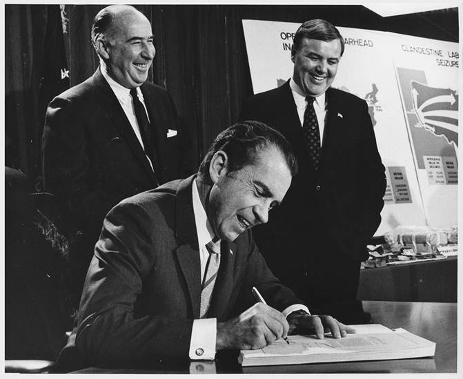 President Nixon Signs Controlled Substance Act - 1970