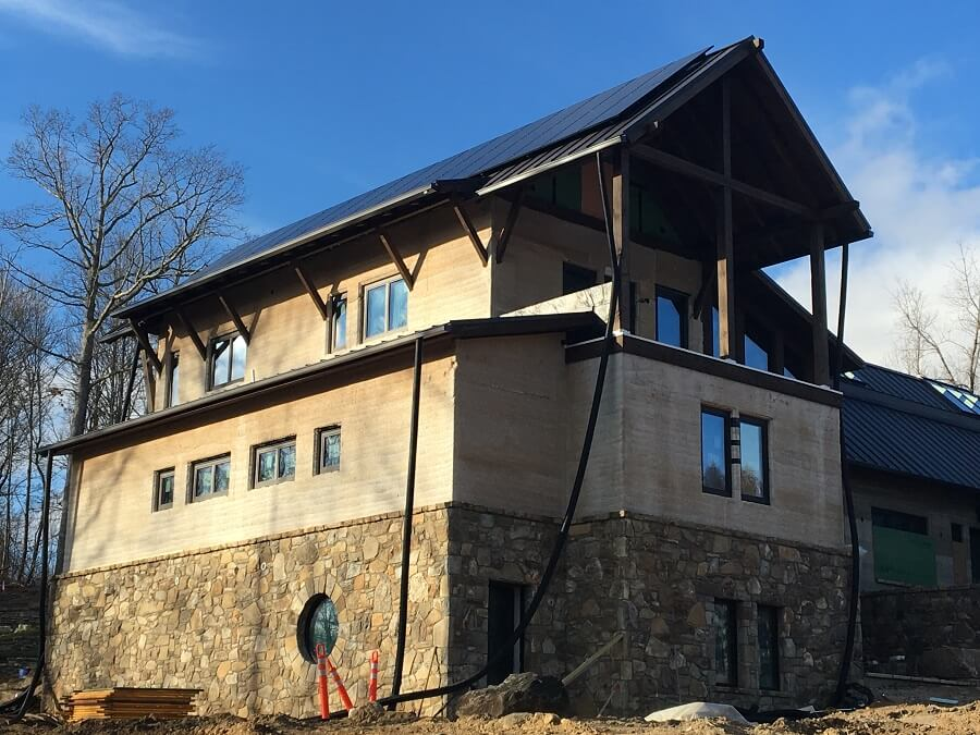 hempcrete house in Asheville, North Carolina
