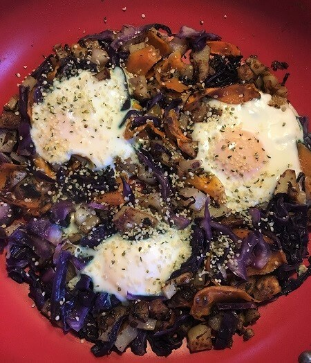 Breakfast Hash with hemp hearts
