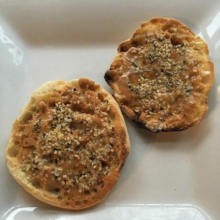 English Muffin with Hemp and Honey