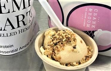Ice cream with hemp hearts