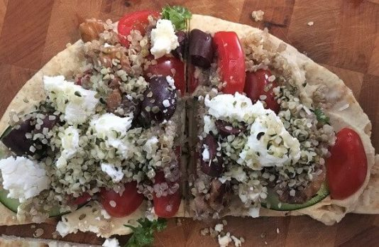 Mediterranean Pita with Hemp Hearts