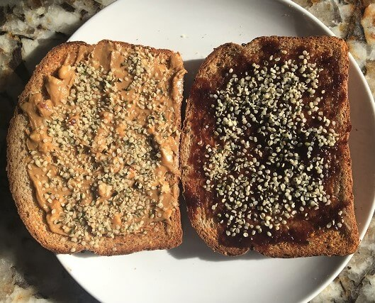 Peanut Butter and Jelly with Hemp Hearts