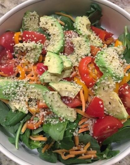 Salad with Hemp Hearts