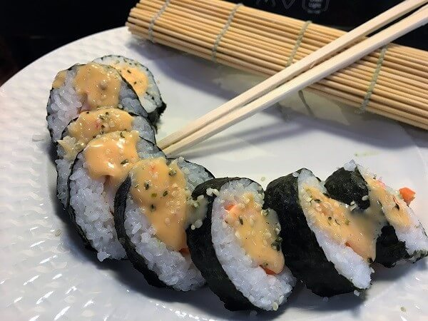 Sushi with hemp hearts