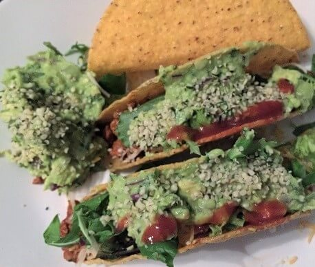 Tacos with hemp hearts