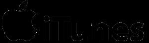 iTunes logo black