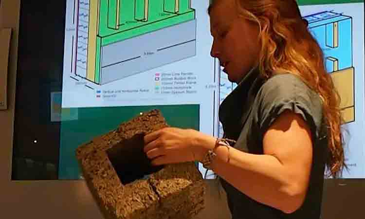 Annie Rouse presents on building with hemp